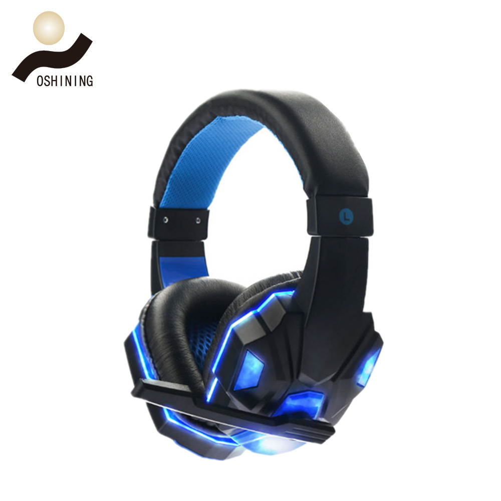 2017 hot sale Headphones Internet cafes gaming headset (OS-830MV with LED)