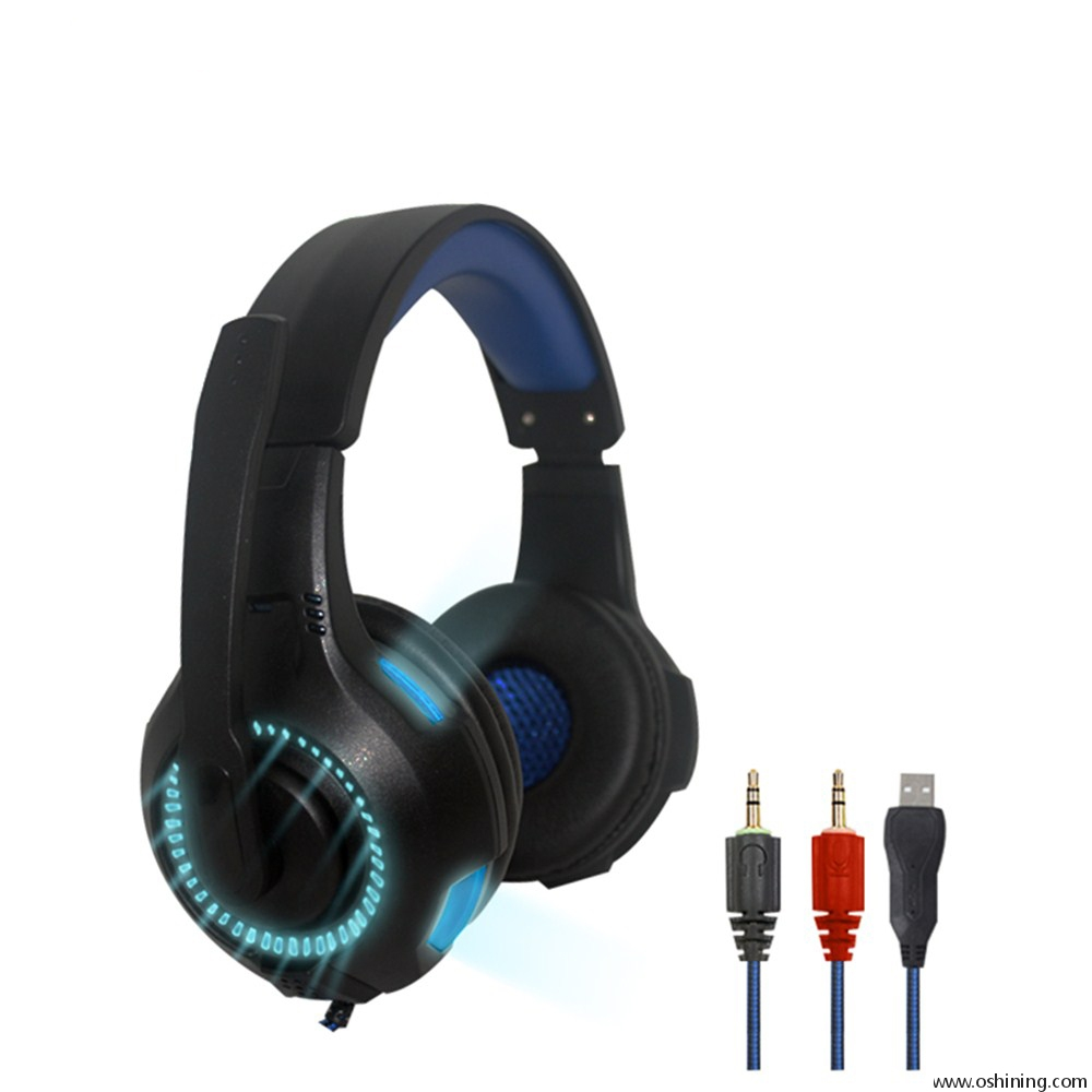 LED PC Headband Headphone for Gamers