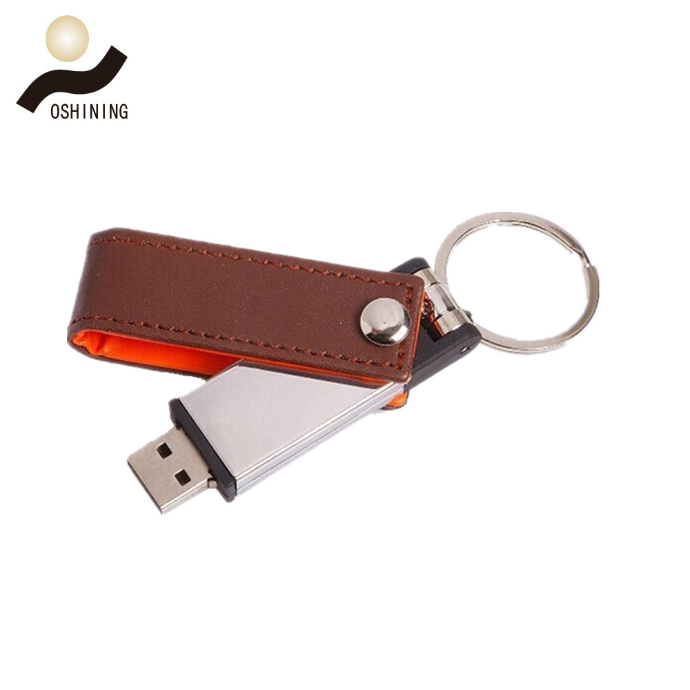 Rotate the leather case with a usb drive(USB-LT003)