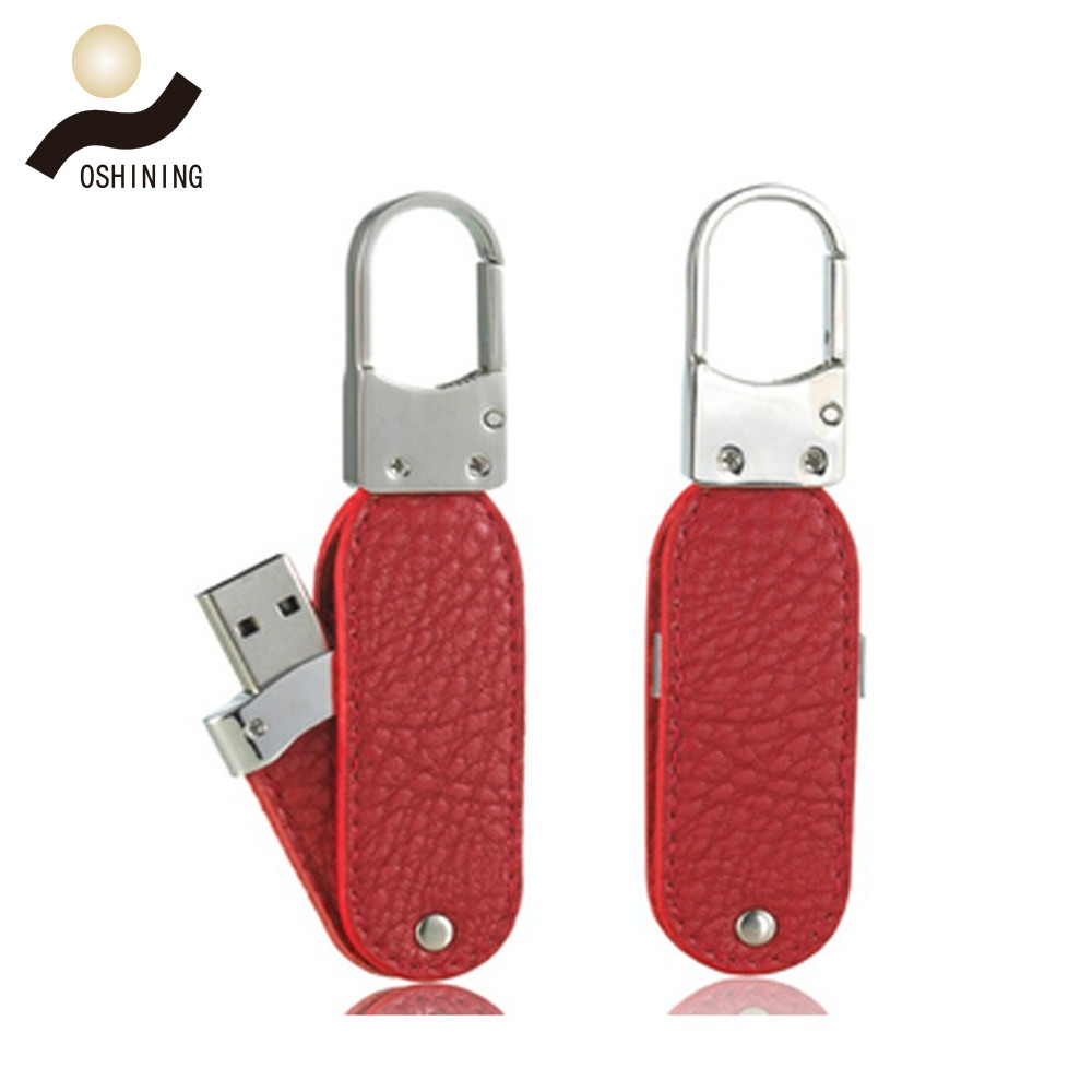 Rotary leather usb drive(USB-LT006)